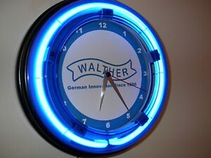 Details about Walther PPK Firearms Gun Store Man Cave Blue Neon Advertising  Wall Clock Sign
