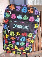 Disneyland Rainbow Mickey Mouse Full Backpack Multi-color Disney Parks 18