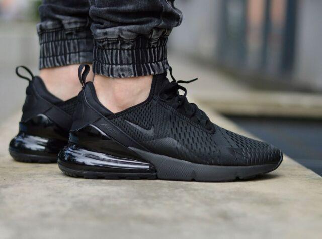 Nike Air Max 270 Running Shoes Triple Black AH8050-005 Men's NEW