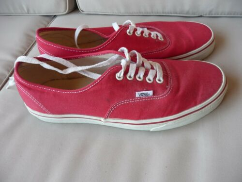 Taille 44 5 Chaussures Rouge Toile Homme 10 Vans En 1x18qXwAO
