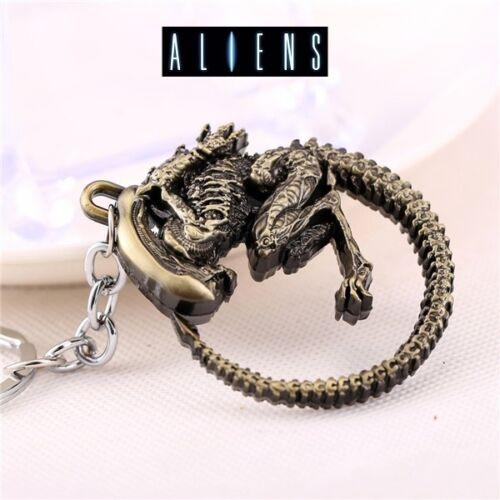 Metal AVP Aliens vs Predator Figurine Keyring Key Chain Cosplay  Color keychain