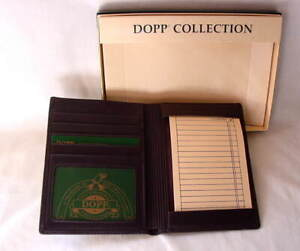 DOPP-Brown-Leather-Folded-Jotter-Wallet-Note-Holder-Credit-Cards-NEW-NWT