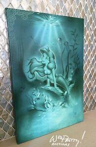 LIMITED-EDITION-Canvas-Print-Ariel-Little-Mermaid-by-Disney-Artist-Noah-42-95