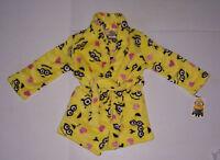 Dispicable Me 2 Minions Girl's Fleece Pajama Robe Bathrobe Various Sizes