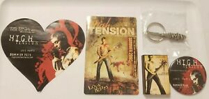 HIGH-TENSION-2003-5-Original-Horror-Movie-Promo-Items-Matches-Keychain-buttons