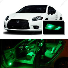 For Mitsubishi Eclipse 2006-2012 Green LED Interior Kit +Green License Light LED