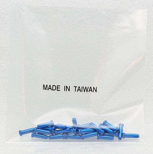 25 Bike Bicycle Anodized Brake Cable Ends Tips Caps Crimps BLUE