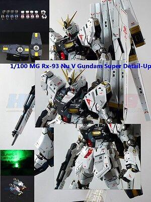 Metal Details Up Parts  For Bandai 1/100 MG New Nu V Gundam ver Ka Model-Kit