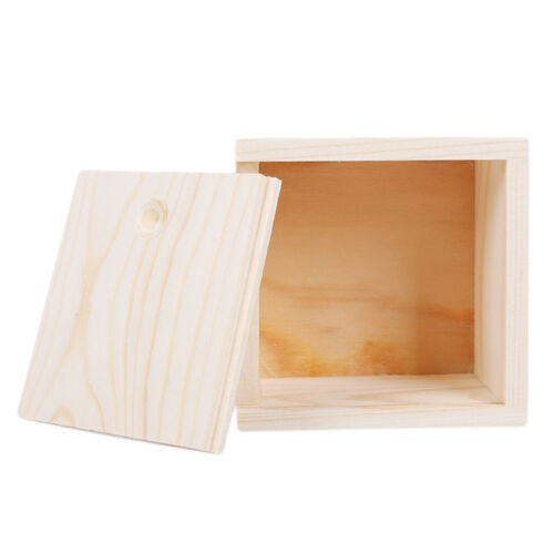 1pc Small Plain Wooden Storage Box Case for Jewellery Small Gadgets Cover SE