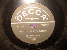 Georgie Cook 'Key To The City Polka/Good AS Gold Polka 78