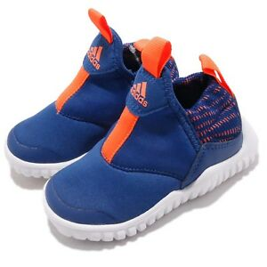 bb7a1c7c0d89 adidas RapidaZen I Blue White Orange TD Toddler Infant Baby Slip On ...