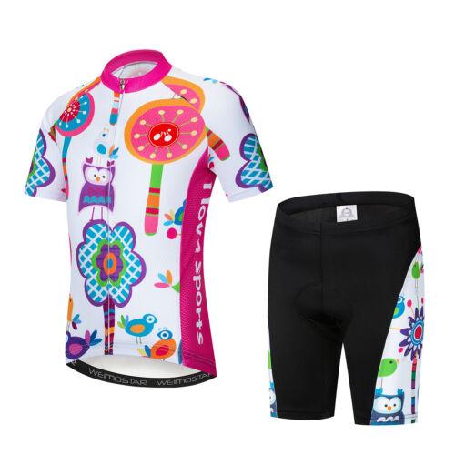 Neue Jungen Radtrikot Kinder Fahrradbekleidung Kinder Sport Kurzarm Bike Set Top