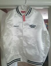 Supreme x Rap-A-Lot Records Satin Club Jacket White Large Rap A Lot