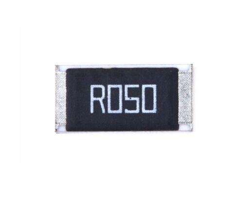 50 piezas nuevo 2512 SMD Resistor 1W 0.05 Ohm 0.05R R050 1/% 2512 resistencia de microcircuito