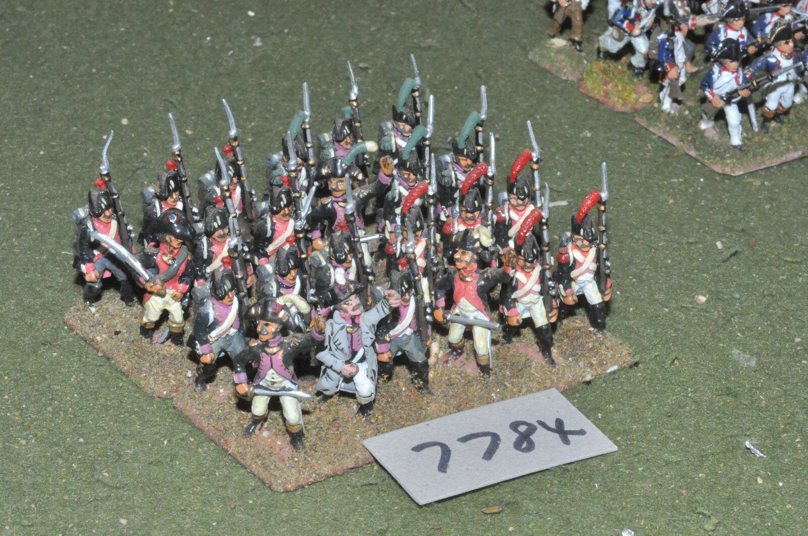 25mm napoleonic   french - revolutionary war infantry 24 figs metal - inf (7784)