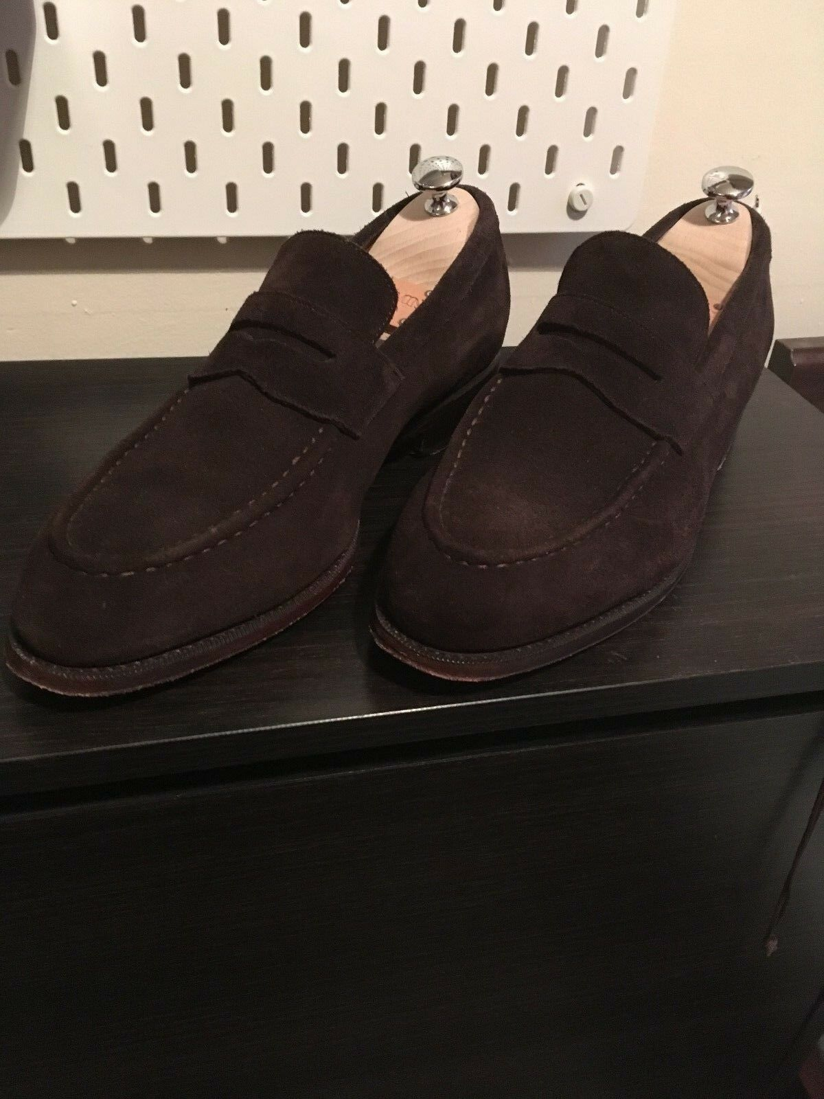 Meermin Dark brown suede loafers