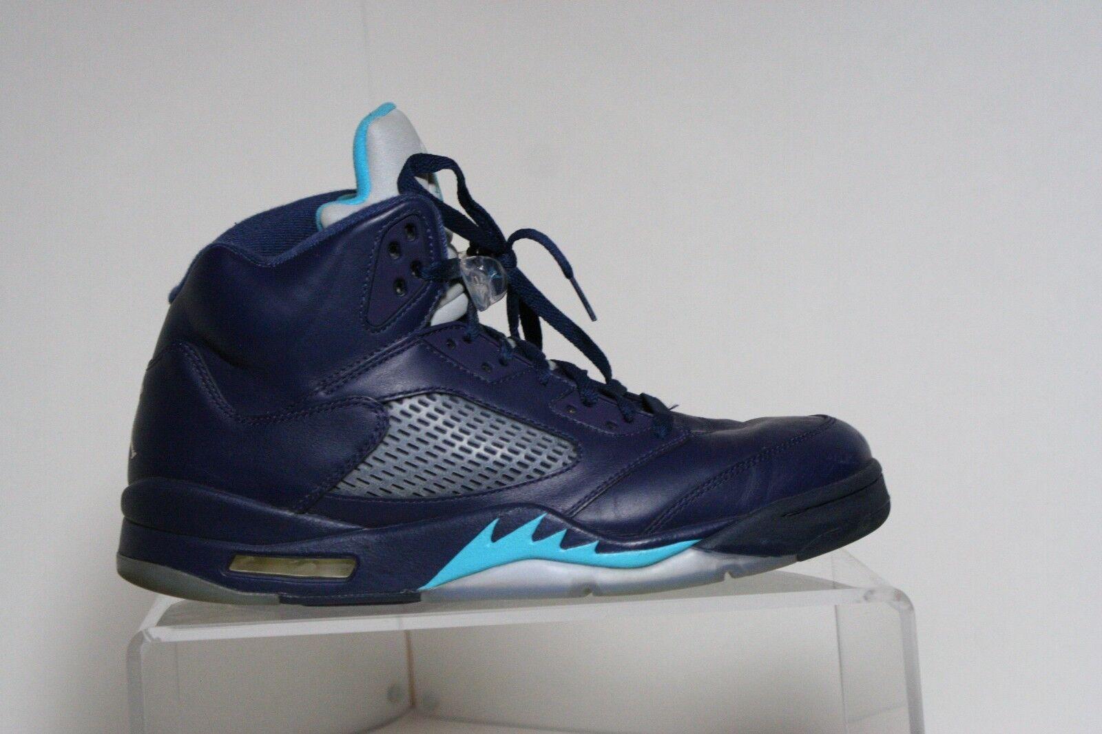 Nike Air Jordan V 5 Retro Hornets 14' Sneaker Athletic Multi Blue Men 12 Hip EUC
