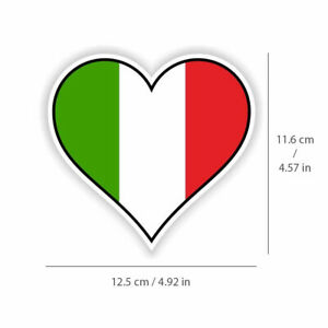 Italy Flag Decal for auto Truck or Boat