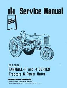   Super HV Tractor Farmall Parts Manual Super H Tractor Super