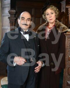 "Poirot (TV) David Suchet ""Hercule Poirot"" Zoe Wanamaker 10x8 Photo"