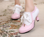 Women-039-s-Brogues-Stitching-Color-Lace-up-Kitten-Heels-Ladies-lolita-Shoes-Size-8