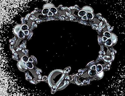 In Acciaio Inox Braccialetto In Acciaio Inox 316 Teschio Skull Ossa Bones-nd Armband Edelstahl 316 Totenkopf Skull Knochen Bones It-it Prendiamo I Clienti Come Nostri Dei