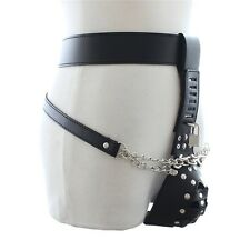 Faux Leather Male Men's Lockdown Chastity Belt Restraint Bondage Party Knickers
