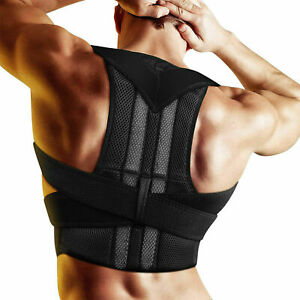 Posture-Corrector-Support-USPS-Back-Shoulder-Brace-Belt-Adjustable-Men-Women-US