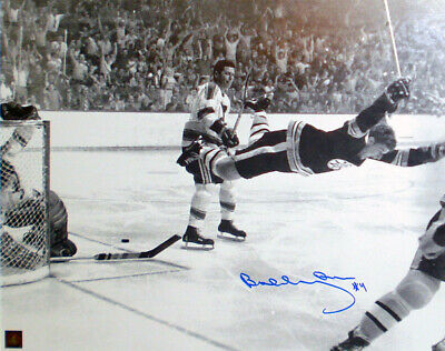 "Hockey-nhl Liberal Bobby Orr ""the Goal"" Autographed 16x20 Photograph Autographs-original Boston Bruins Diversified In Packaging"