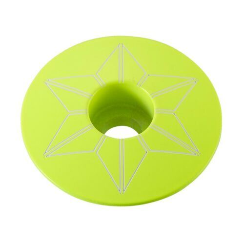 "Neon Yellow 1-1//8/"" Powder Coated Supacaz Star Capz Top Cap"