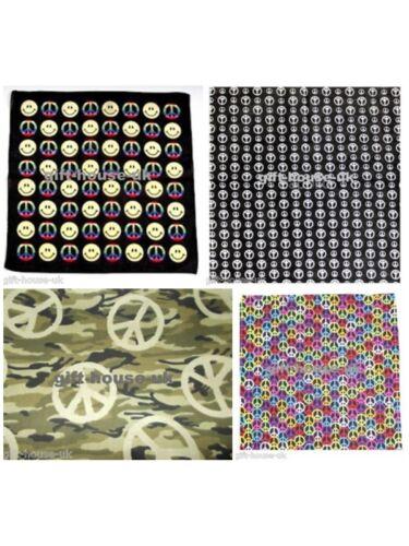 Peace Smiley Bandanna Headwear//Hairband Band Scarf Neck Wrist Wrap HeadtieB3