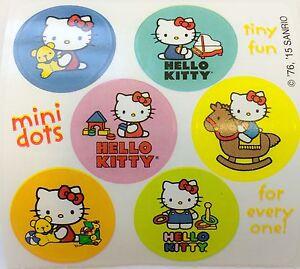 45baa2162 60 Hello Kitty Girly Dot Reward Stickers Party Favors Teacher Supply ...