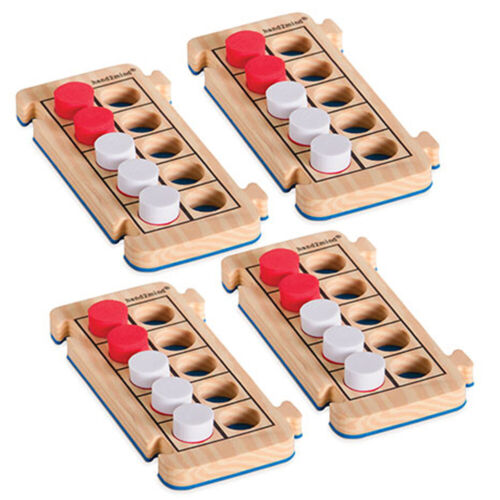 Hand2Mind Rekenrod Foam Ten-Frames with Counters 85225 Set of Four