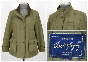 Womens-Jack-Murphy-Tweed-Coat-Jacket-Sport-Hunting-Green-Wool-Size-18UK-XL