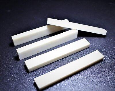 PREMIUM 6pcs bleached bone nut blanks size 83mm x 12mm x 6.35mm