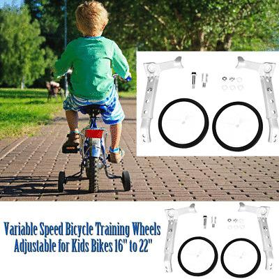 """22/"""" Children Bike Side Wheels Variable Speed Bicycle Training Wheels 16/"""""""