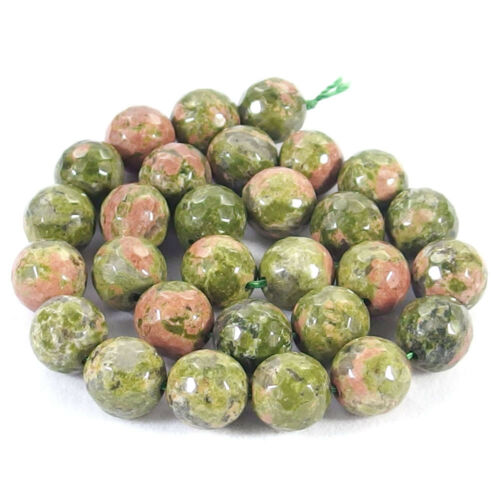 Natural Unakite Jasper Stone Faceted Round Spacer Beads 15.5/'/' 4mm 6mm 8mm 10mm