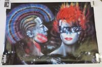 Vintage 1985 Wizard & Genius Punks Peter French 80's Punk 27 X 35.5 Poster
