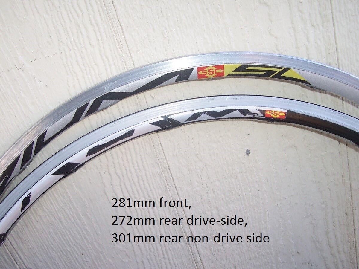 301mm Grey 10 Ten Lot Sale Mavic Ksyrium-SL Rear Spokes