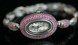 Turkish-Handmade-Jewelry-Watch-Sterling-Silver-925-Ruby-Bracelet