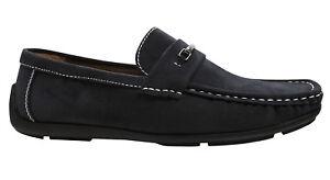 b2d9a600 La imagen se está cargando Zapatos-Mocasines-Hombre-en-Negro-de-ante-Casual-