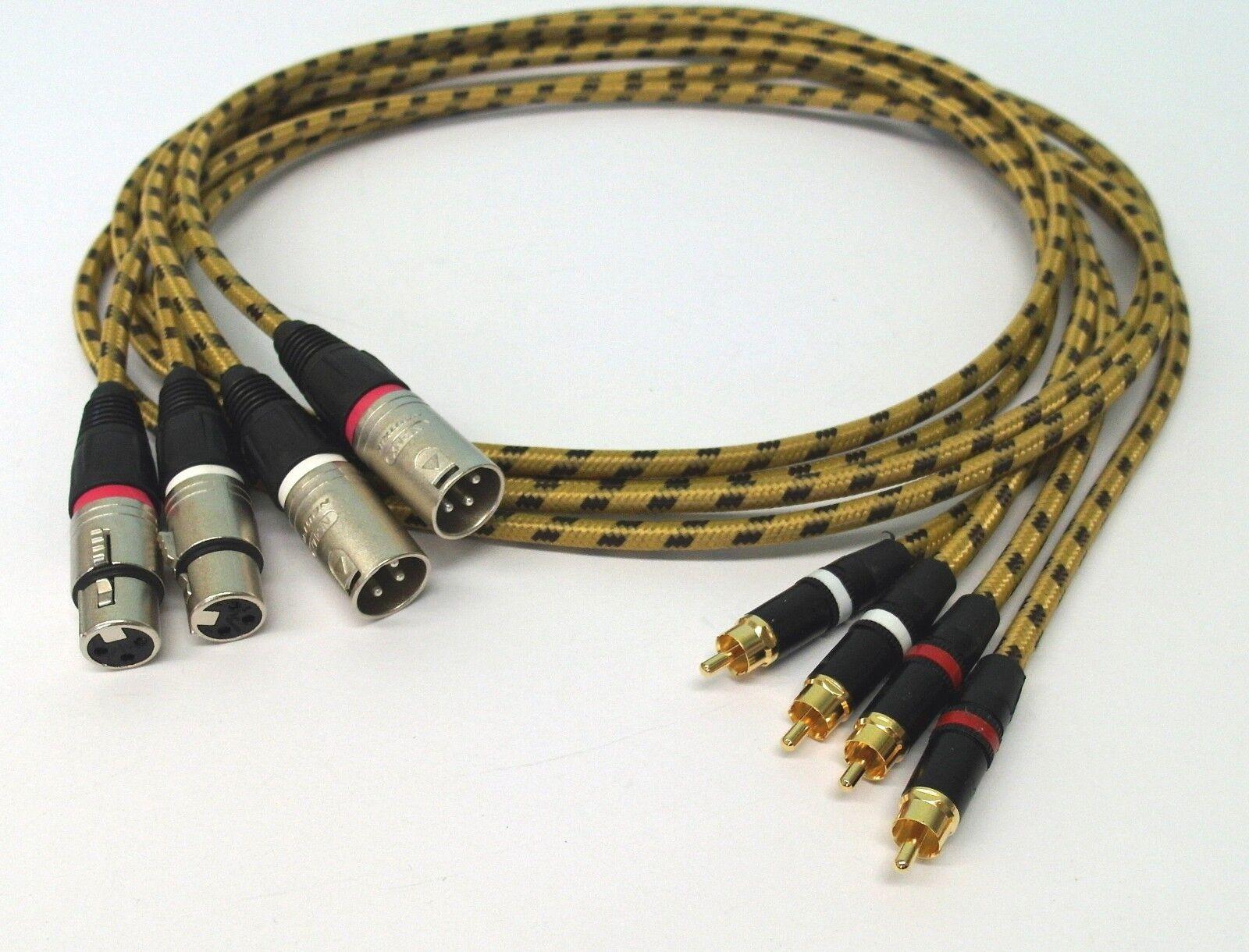 4x1,5 metros Profi XLR-cinch-cable para Revox pr99 Studer c270 a807 a807 a807 a810 a80 a721 05c2b5