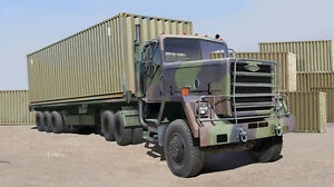 CAMION SEMI-REMORQUE US M915 PORTE-CONTAINER 40 Pds, KIT TRUMPETER 1/35 n? 01015