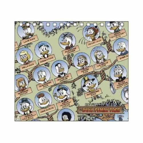 Duck Family Tree 2020 Calendar Scrooge McDuck Don Rosa Disney Japan