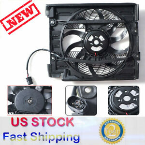 AC A//C Radiator Condenser Pusher Cooling Fan Motor Fit For BMW 99-03 5 Series M5