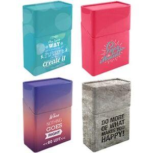 1x-Metall-Zigarettenetui-Zigarettendose-Zigarettenbox-mit-aufklappbarem-Deckel