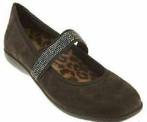 Vionic-Women-039-s-Days-Fern-Dark-Brown-Leather-Mary-Jane-Flats-Size-7-5