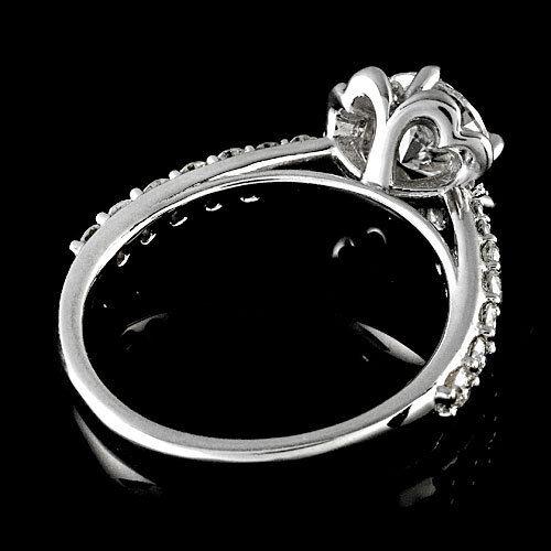 Halo Pave Antique 1.03 Carat Round Cut Diamond Engagement Ring 14K White Gold