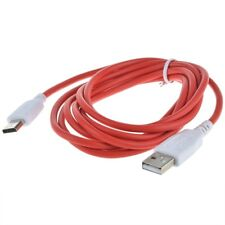 Red White USB Data Sync Transfer Charger Cable for Nabi Jr NABIJR-NV5B Tablet