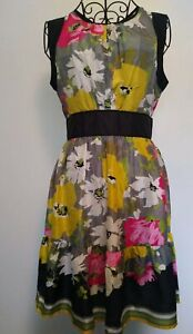 WAREHOUSE-summer-Dress-Size-10-Holiday-Floral-Print-Wedding-Occasion